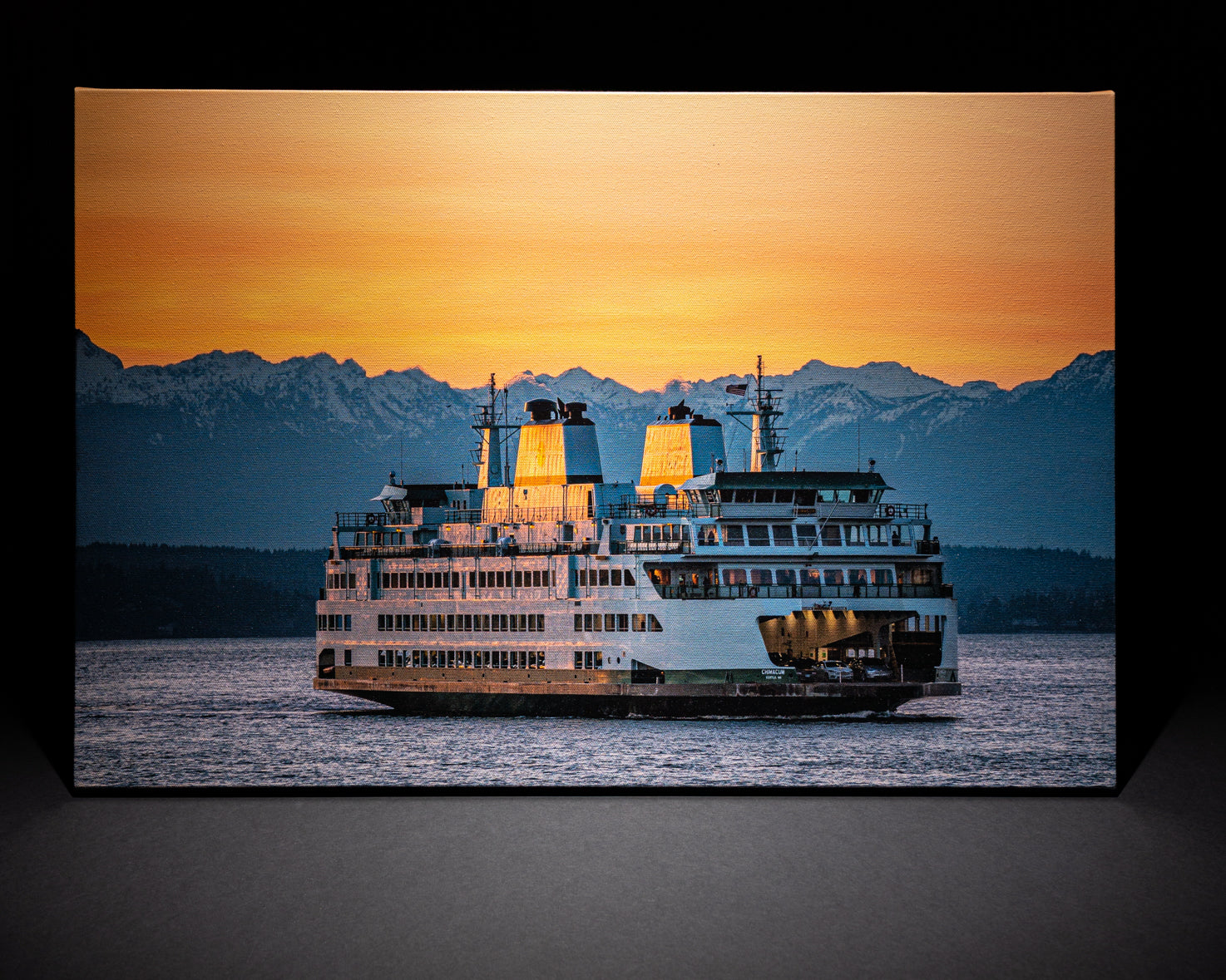Seattle Ferry at Sunset