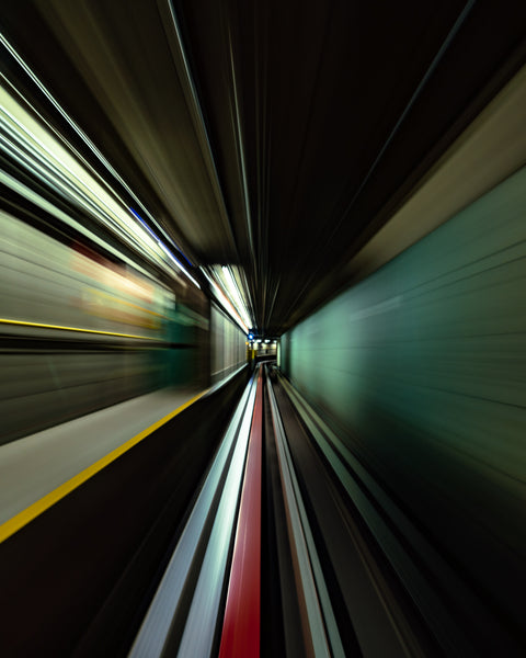 Speeding through the Train Tunnel