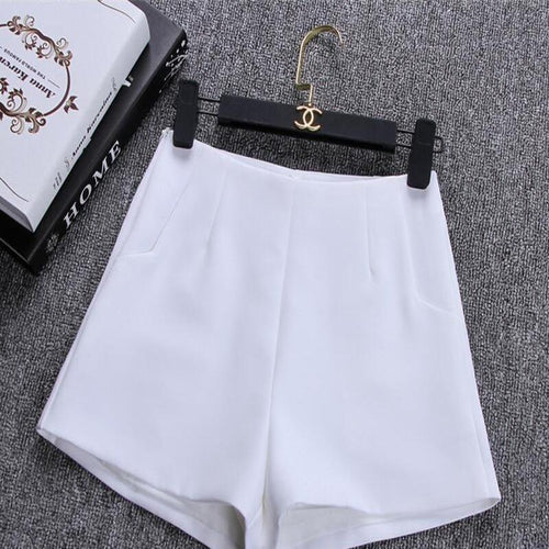 High Waist Casual Suit Shorts