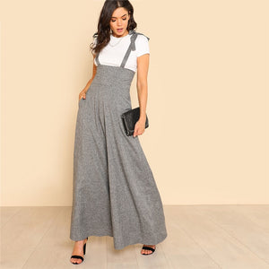 Grey Sleeveless High Waist Jumpsuit