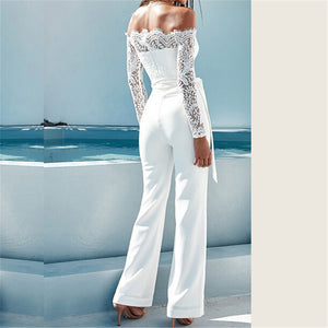 Floral White Color Jumpsuit