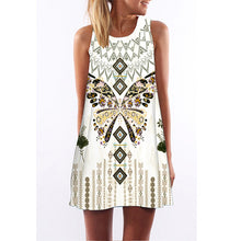 Load image into Gallery viewer, Beach Floral Print Mini Summer Dress