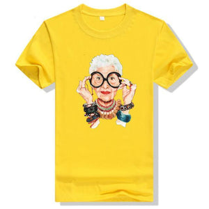 Old Women Print T Shirt