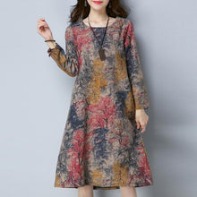 Load image into Gallery viewer, Long Sleeve O Neck Dress