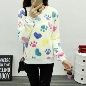 Casual O-neck long-sleeved sweater