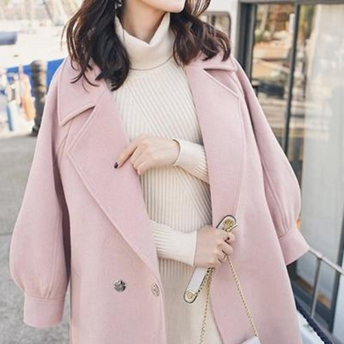 Turn-Down Collar Adjustable Belt Coat