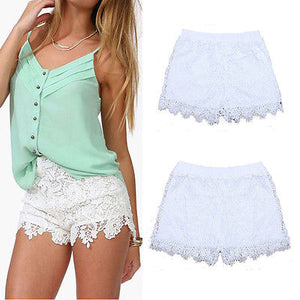 Summer Lace Floral Shorts