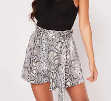 Load image into Gallery viewer, Snake Print High Waist Shorts