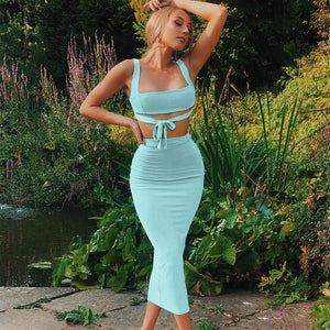 Crop Top And Skirt Bodycon