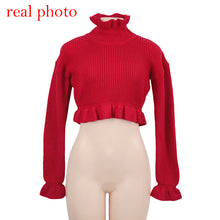 Load image into Gallery viewer, Sexy crop lady's sweater