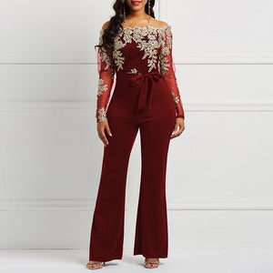 Jumpsuit Luxury Transparent Off Shoulder