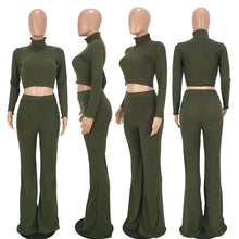 Load image into Gallery viewer, Turtleneck Top And Wide Pants