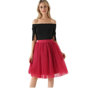 Pleated Dance Tutu Skirt