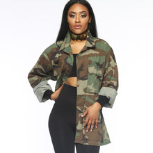 Load image into Gallery viewer, Camouflage Military Jacket