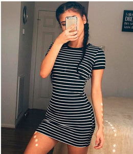 Short Summer Fashion Casual Mini  Dress