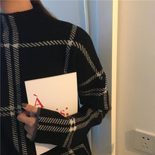 Load image into Gallery viewer, New Plaid Pullovers Sweaters