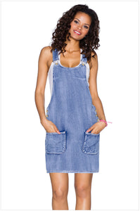 Cute Suspender Denim Overall Dress
