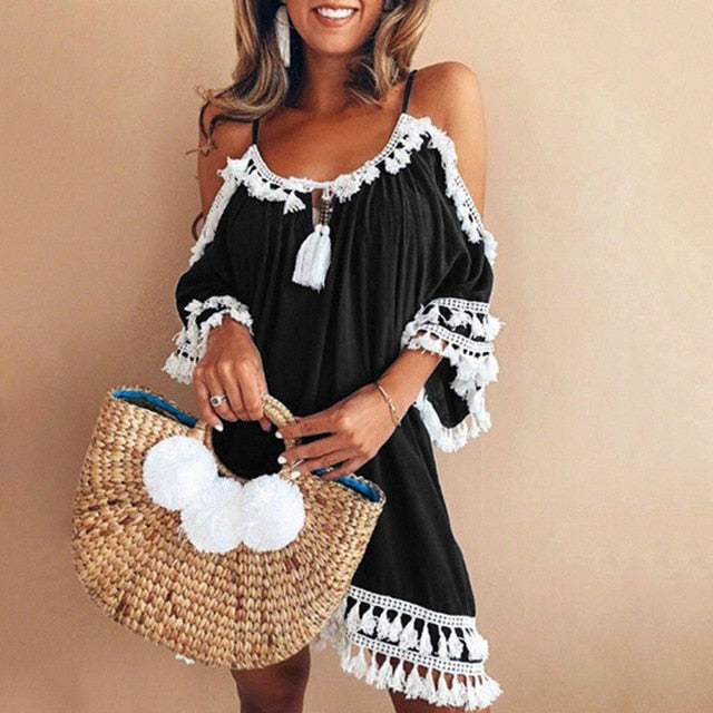 Women Off Shoulder sexy Dress