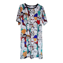 Load image into Gallery viewer, Women T-shirt Dress Plus Size
