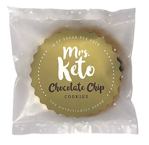 Mrs. Keto Chocolate Chip Cookies Pack of 4 (8 Cookies)