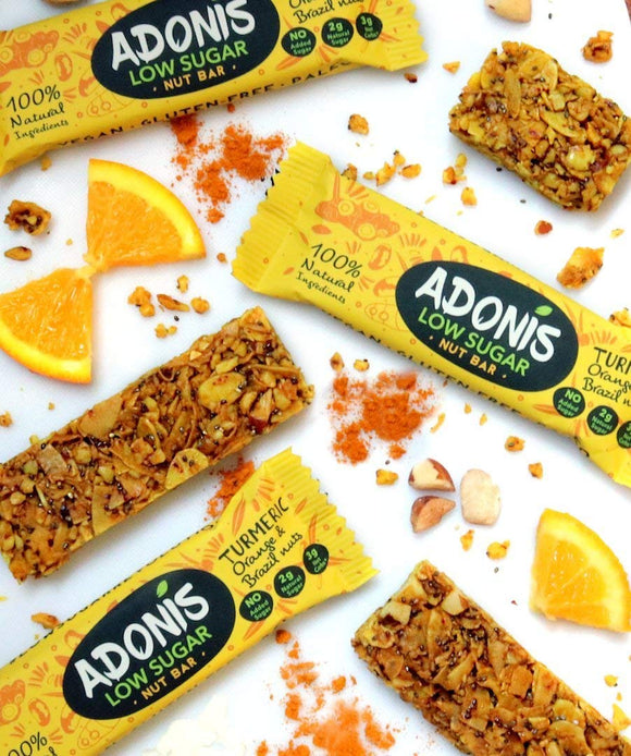 Adonis Tumeric with crunchy Brazil Nuts Snack Bars x5