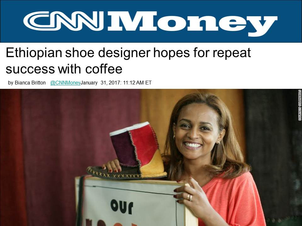 Ethiopian shoe designer hopes for repeat success with coffee