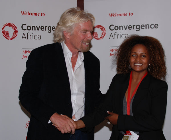 soleRebels' Founder and Sir Richard Branson