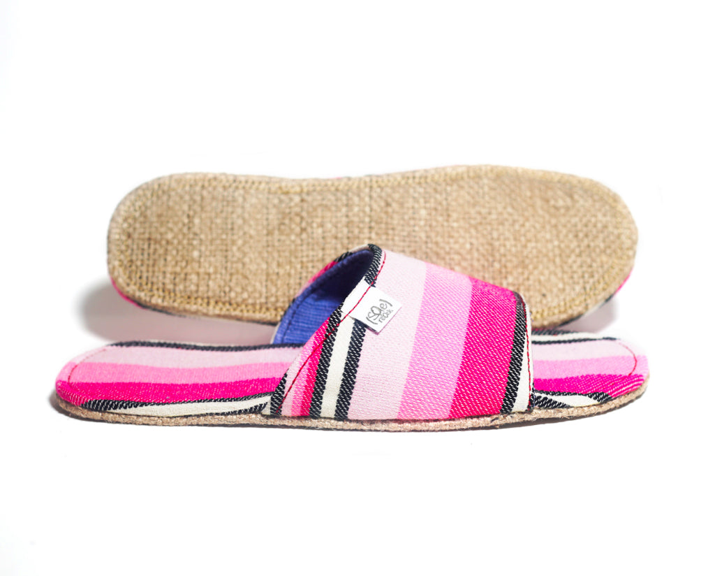 Pink Stripes x Jute Sole