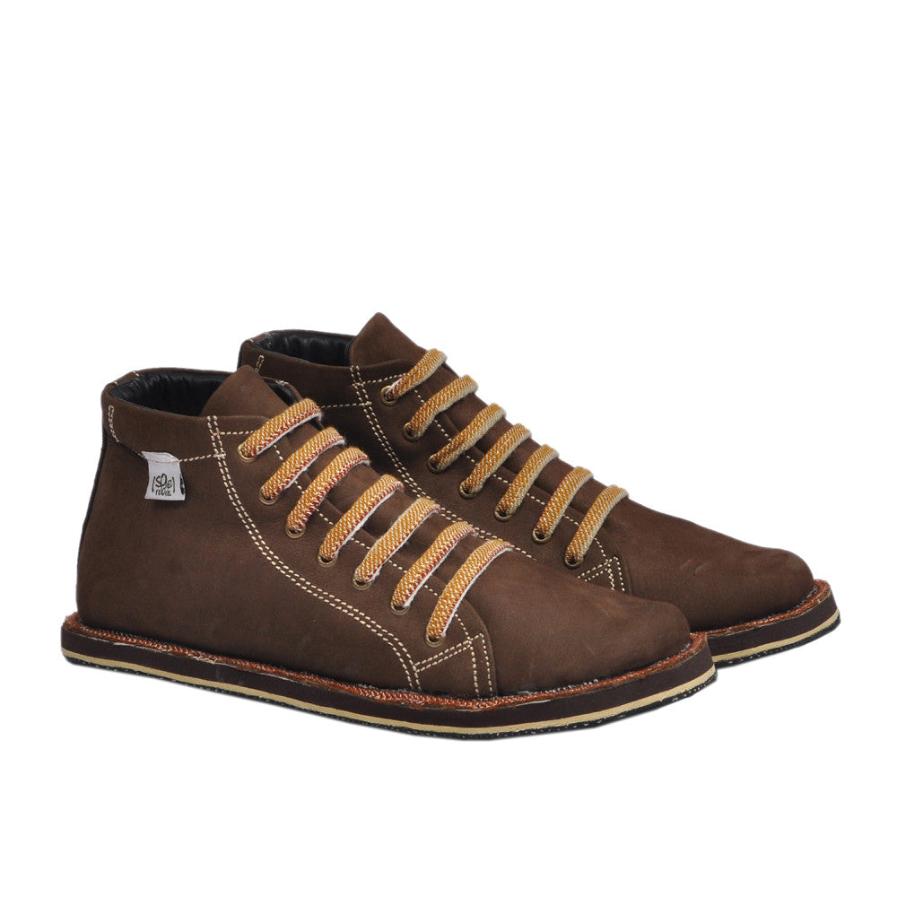 solerebels Brown XoDus Promised Land Lace-Ups