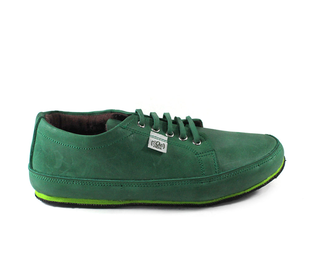 solerebels Green urban runner abpr Lace-Ups