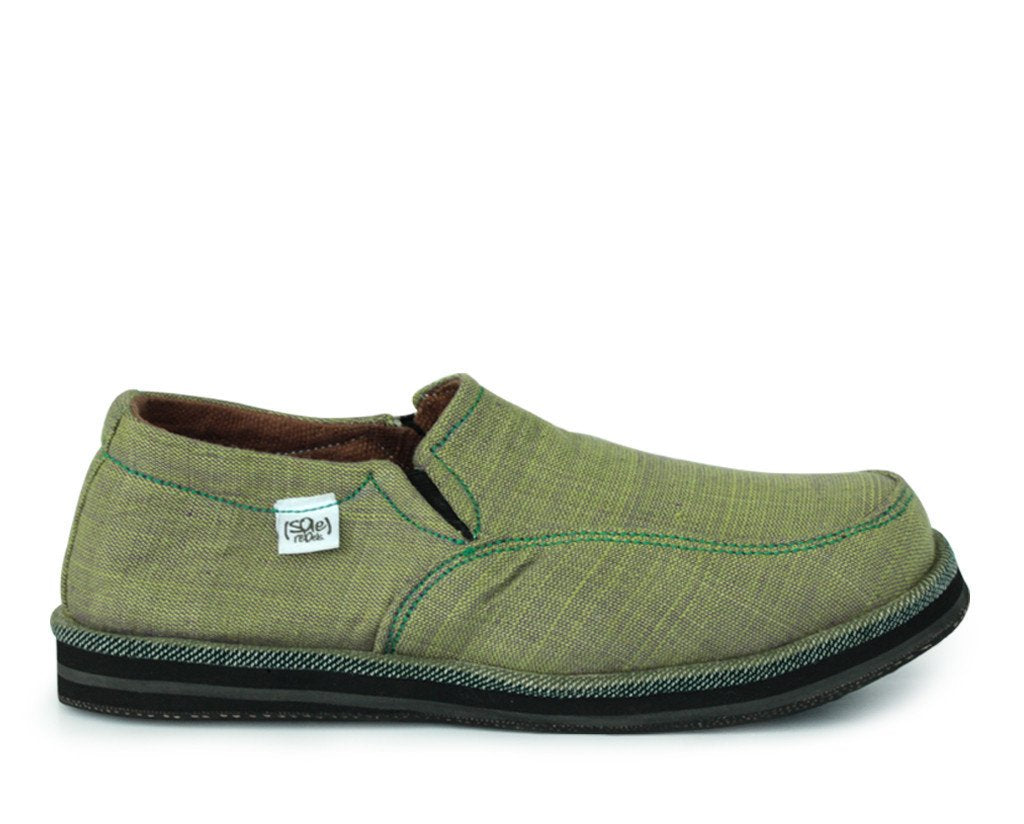 solerebels Green abyssinian PURE mSh Slip-Ons