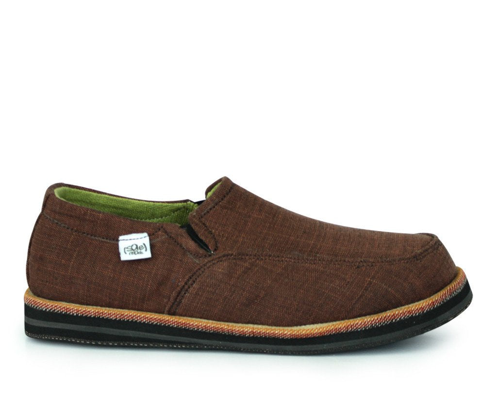 solerebels Brown abyssinian PURE mSh Slip-Ons