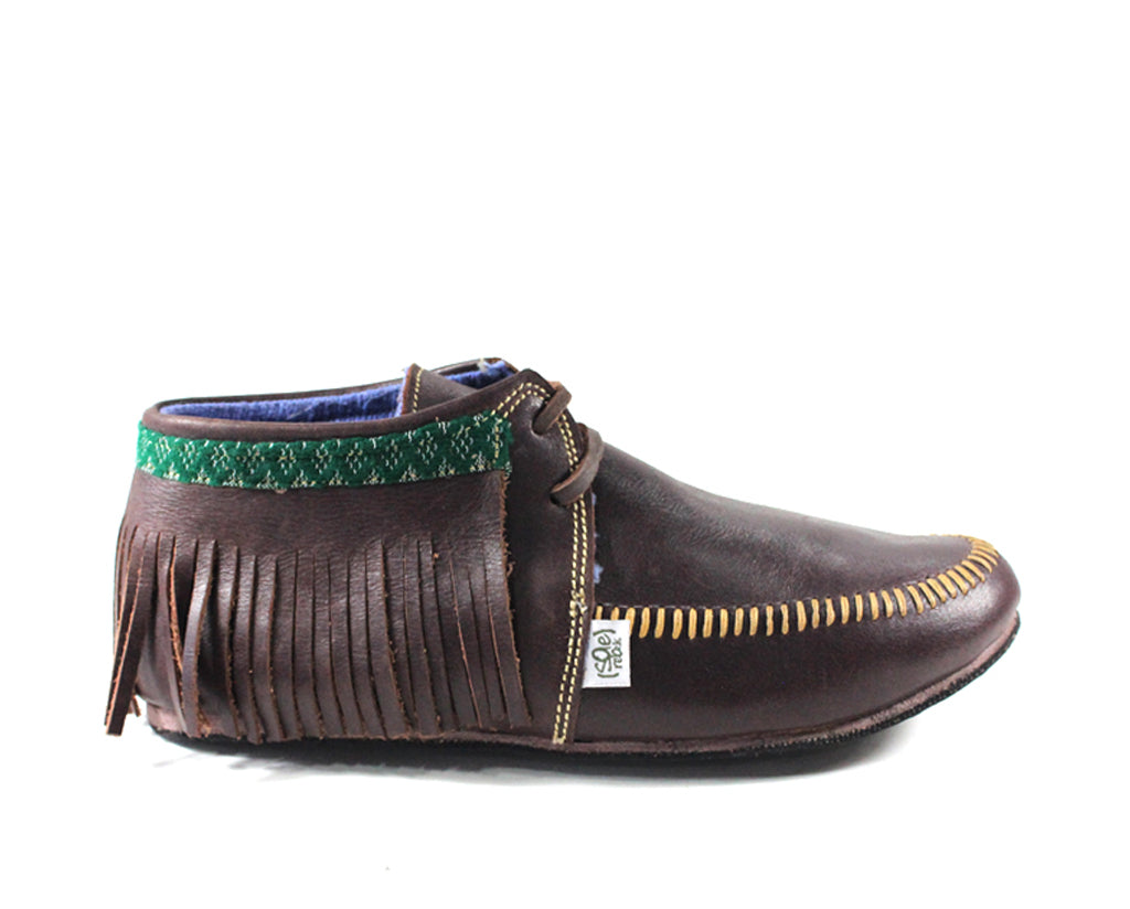 solerebels Brown / Green Trim mocUP cray Slip-Ons
