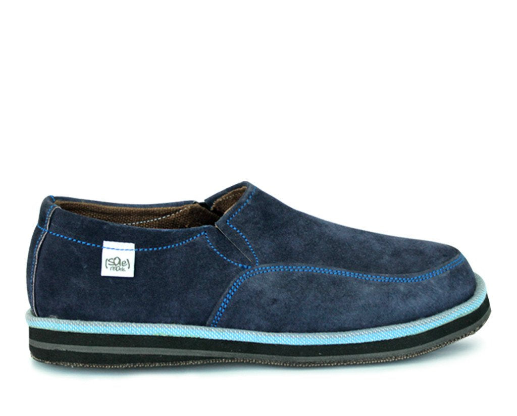 solerebels Blue Suede abyssinian PURE Slip-Ons
