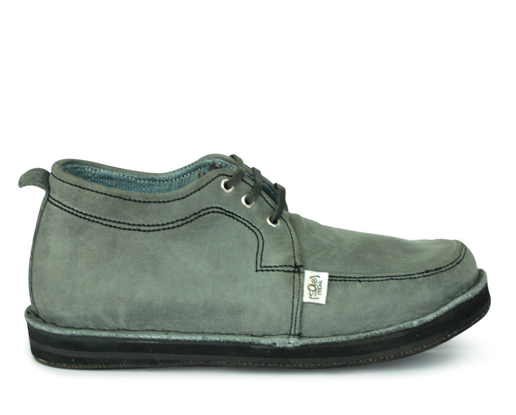 solerebels Dusty Grey range RIDIN abPURE Lace-Ups