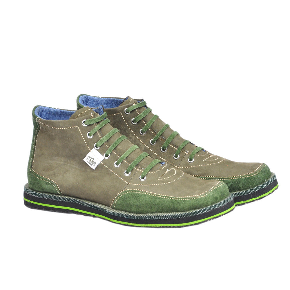 solerebels Green xOdus traveller Lace-Ups