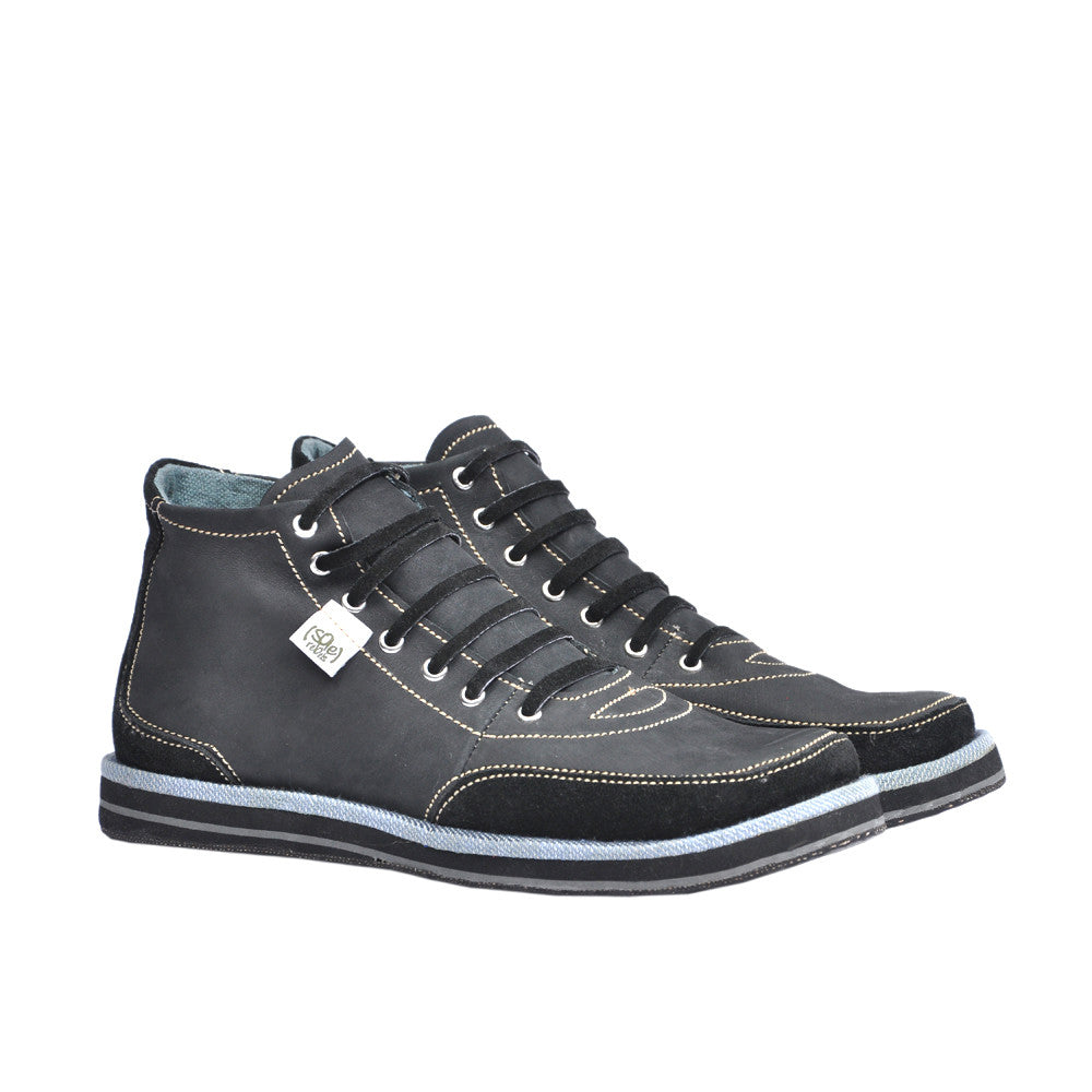 solerebels Black xOdus traveller Lace-Ups