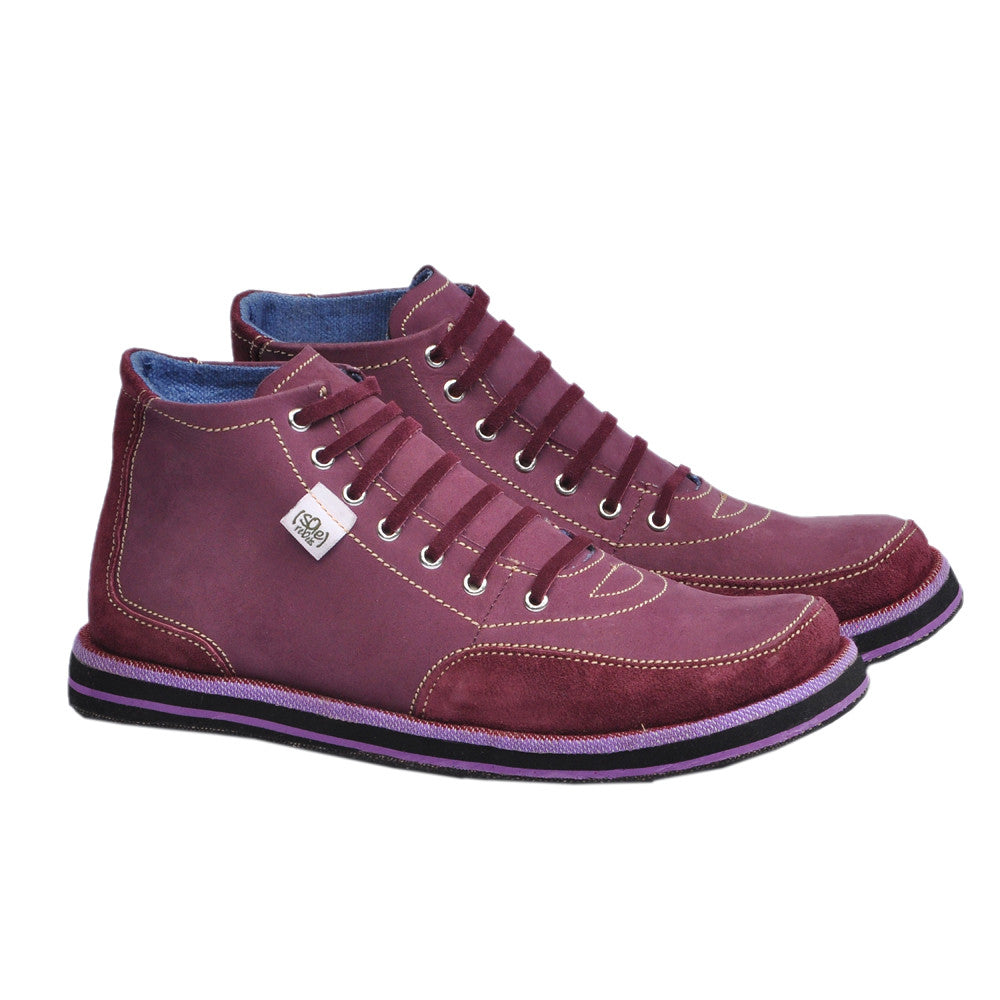 solerebels Raspberry xOdus traveller Lace-Ups