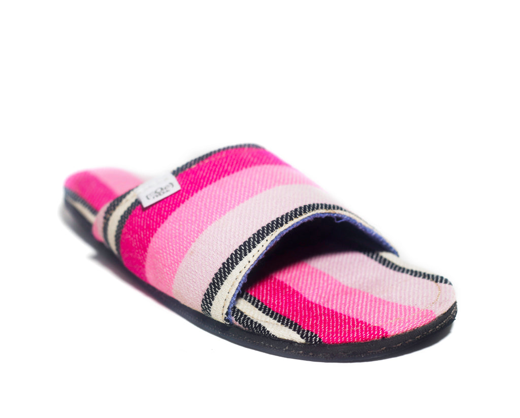 Pink Stripes x Tire Sole