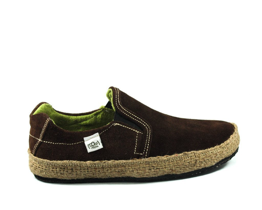 solerebels Chestnut Brown Suede keepON kBa Slip-Ons