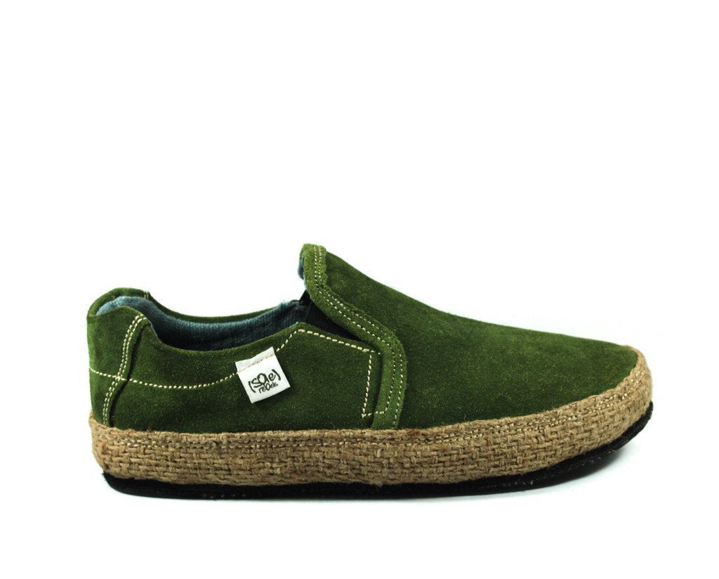 solerebels Forest Green Suede keepON kBa Slip-Ons