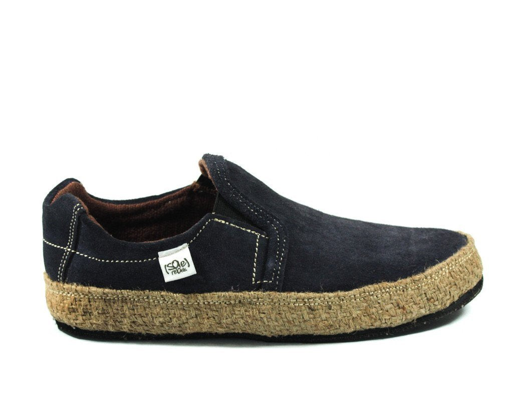 solerebels Charcoal Grey Suede keepON kBa Slip-Ons