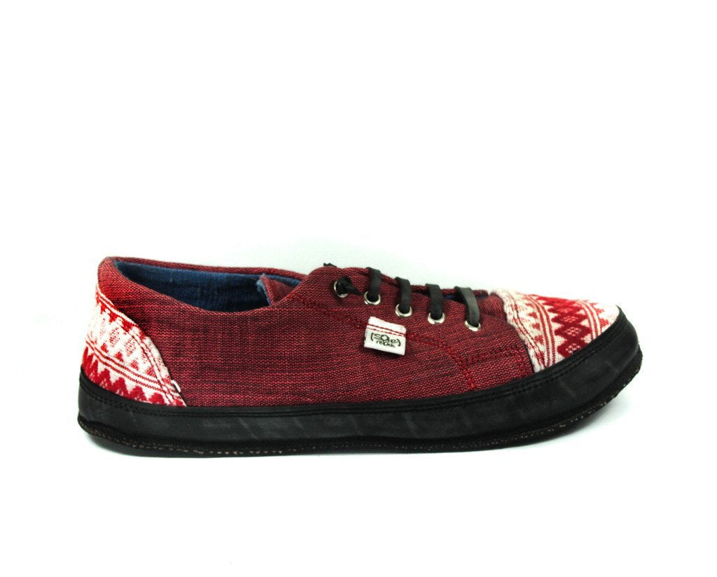 solerebels Cherry Red urbanRUNNER runTINGS 2 Lace-Ups