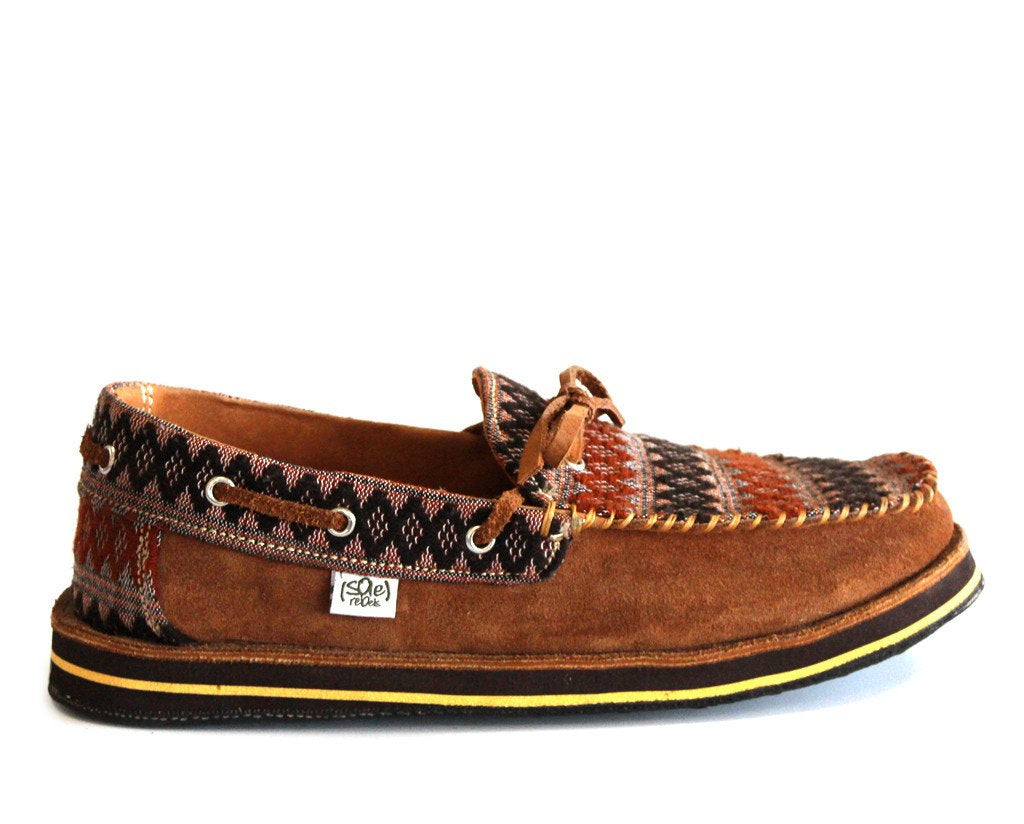 solerebels Caramel Brown riff TALENT ed Slip-Ons