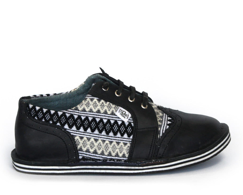 solerebels Black the SURGE stacked Lace-Ups
