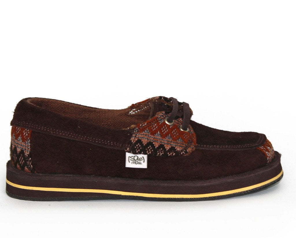 solerebels Chestnut Brown riff TALENT 2 Slip-Ons