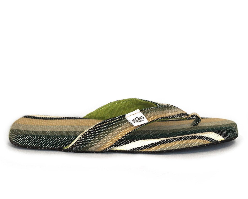 solerebels Army Green Stripes easy RIDIN comeback Sandals