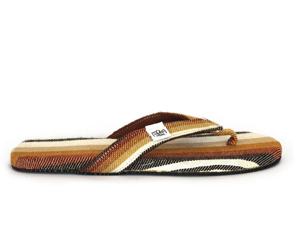 solerebels Burnt Sienna Stripes easy RIDIN comeback Sandals