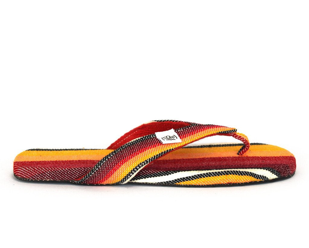 solerebels Sunset Red Stripes easy RIDIN comeback Sandals