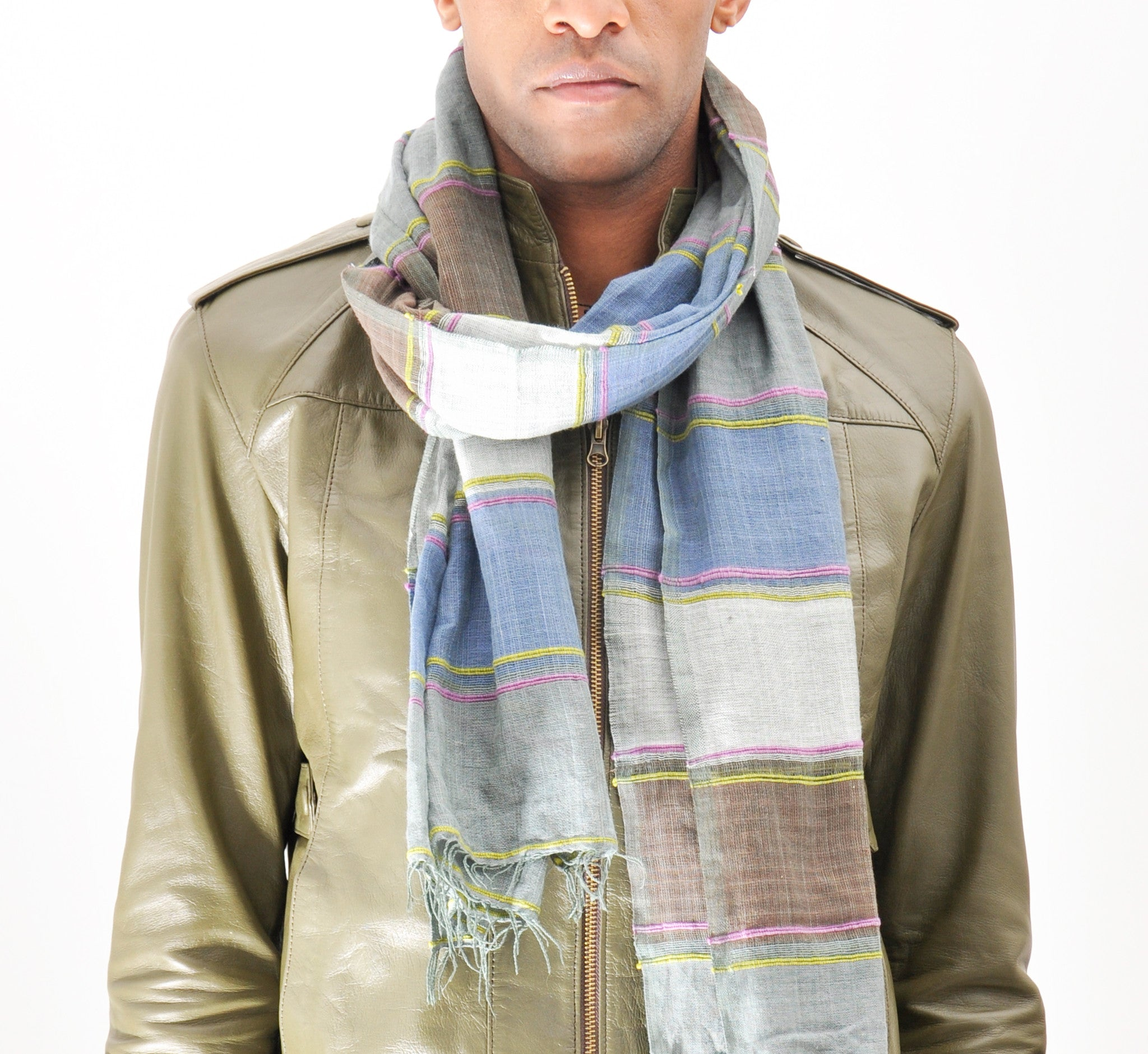 The Camo Scarf  Blue